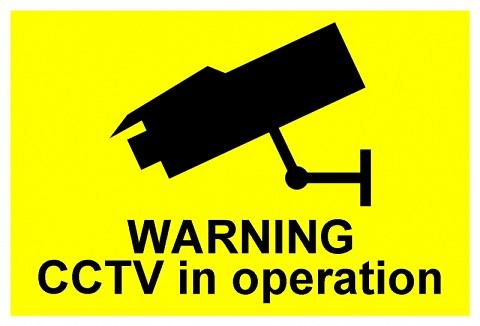 cctv shop signage